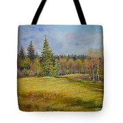 Landscape From Pyhajarvi Tote Bag