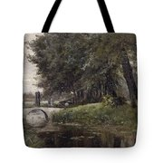 Landscape In Nijmegen. Netherlands Tote Bag