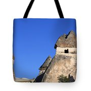 Landscape Of Limestone Fairy Chimneys At Zelve In Cappadocia Turkey Tote Bag