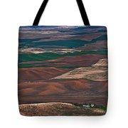 Landscape Of Rolling Farmland Steptoe Butte Washington Art Prints Tote Bag