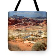Landscape Of Valley Of Fire State Park Tote Bag