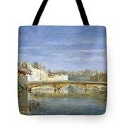 Landscape Oil On Canvas Tote Bag