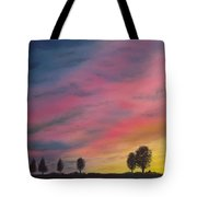 Landscape Sunset In Memenbetsu Cho Japan Tote Bag