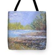 Landscape Whit River Tote Bag
