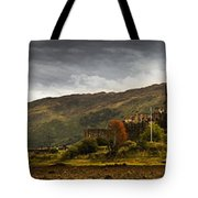 Landscape With A Castle On A Hill And A Tote Bag