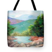 Landscape With A Creek Tote Bag
