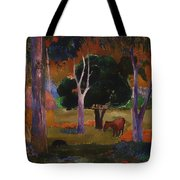 Landscape With A Pig And Horse Tote Bag