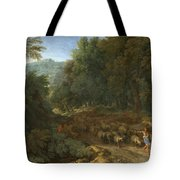 Landscape With A Shepherd And His Flock Tote Bag