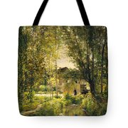 Landscape With A Sunlit Stream Tote Bag
