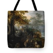 Landscape With Animals Tote Bag