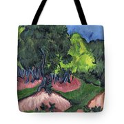 Landscape With Chestnut Tree Tote Bag
