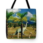 Landscape With Dinosaurs Tote Bag