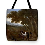 Landscape With Hermit Preaching To Animals Tote Bag