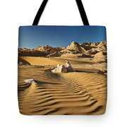 Landscape With Mountains In Egyptian Desert Tote Bag
