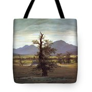Landscape With Solitary Tree Tote Bag