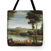 Landscape With St. John Baptising Tote Bag