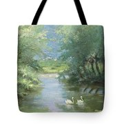 Landscape With Swans Tote Bag