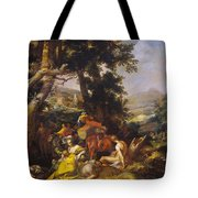 Landscape With The Ministry Of John The Baptist Tote Bag