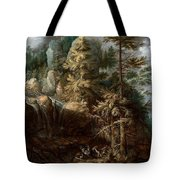 Landscape With The Temptation Of Saint Anthony Tote Bag