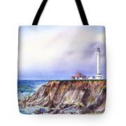Lighthouse Point Arena California  Tote Bag