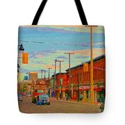 Landsdowne Condos 5th Avenue The Glebe Ottawa Street Scene Paintings Carole Spandau Canadian Art Tote Bag