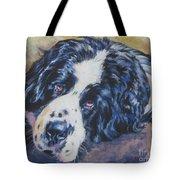 Landseer Newfoundland Dog Tote Bag