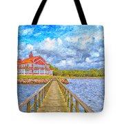 Landskrona Sea Shore Painting Tote Bag