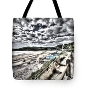 Langland Bay Painterly Tote Bag