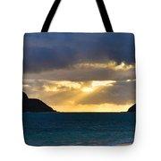 Lanikai Beach Sunrise Panorama 2 - Kailua Oahu Hawaii Tote Bag