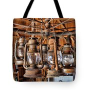 Lantern Chandelier Tote Bag