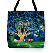 Lantern Tree Tote Bag