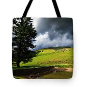Lanty's Tarn On A Stormy Afternoon Tote Bag