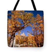 Larch Trees Frame Prusik Peak Tote Bag