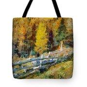 Larches In Autumn Tote Bag
