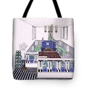Large Balconied Reception Room Tote Bag