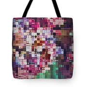 Large Blocks Digital Abstract - Purples Tote Bag