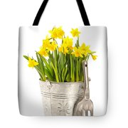 Large Bucket Of Daffodils Tote Bag by Amanda Elwell