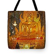 Large Buddha Image In Wat Tha Sung Temple In Uthaithani-thailand Tote Bag