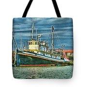 Large Fishing Boat Hdr Tote Bag