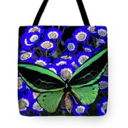 Large Green Butterfly Tote Bag