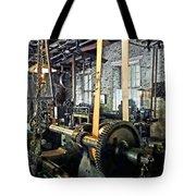 Large Lathe In Machine Shop Tote Bag