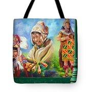 Large Mural In Cusco Peru Part 4 Tote Bag