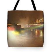 Large Niagara Nighttime Panorama Tote Bag