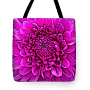 Large Pink Dahlia Retro Style Tote Bag