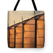 Large Scale Industrial Greenhouse Lit By Sunet Tote Bag