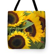 Large Sunflowers Tote Bag