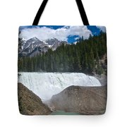 Larger View Of Wapta Falls In Yoho Np-bc Tote Bag