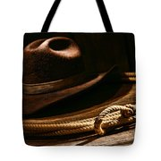 Lariat And Hat Tote Bag