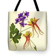 Larkspur And Columbine Tote Bag