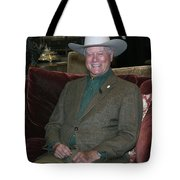 Larry Hagman Tote Bag by Nina Prommer